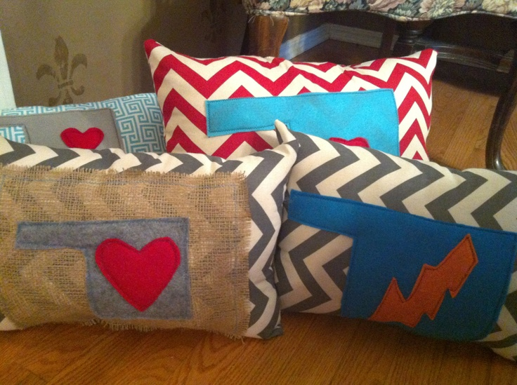 Chevron Oklahoma Love Pillow by sweetpicklesart on Etsy