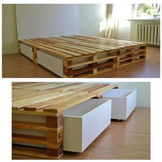 cama de casal de pallet - Pesquisa Google