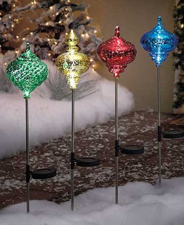 31 best grave side flowers images on pinterest christmas deco the solar lighted ornament stake is a colorful way to brighten your yard this glowing aloadofball Images