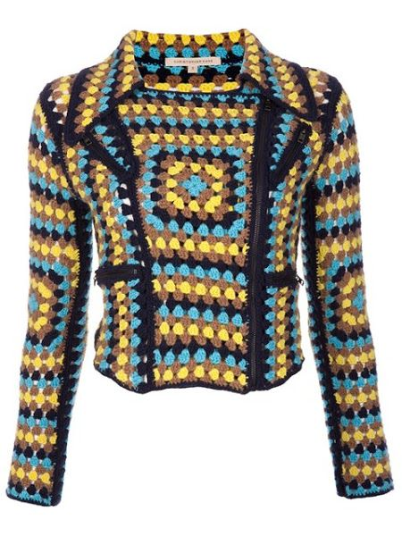 A granny square motorcycle jacket LOL