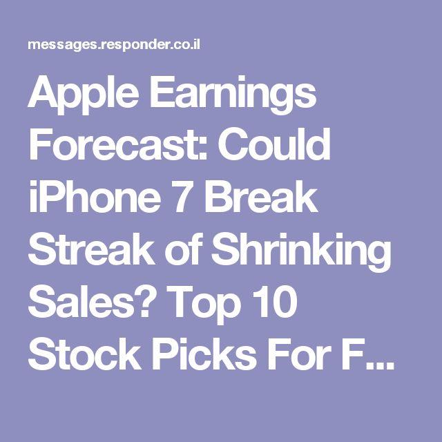 Apple Earnings Forecast: Could iPhone 7 Break Streak of Shrinking Sales? Top 10 Stock Picks For February 2017 Based On Algorithms & Predictions For AMD, NVDA, AAPL, XOM + Algorithmic Forecast: Warren Buffett's Top 3 Stock Picks & Dividend Stocks