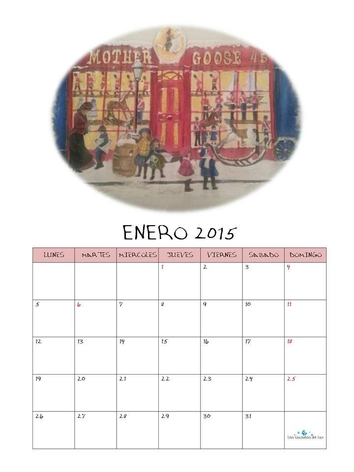 Imprimible: Calendario Enero 2015