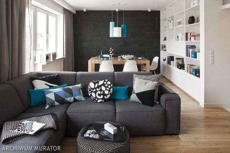 Salon w bloku zazwyczaj pełni kilka funkcji jednocześnie. Na ograniczonej przestrzeni salonu w bloku zazwyczaj musi znaleźć się miejsce do odpoczynku, do jedzenia i czasem do pracy. Aranżacja salonu w bloku jest więc często wyzwaniem dla właścicieli i dla projektantów. Zobaczcie ZDJĘCIA z pomysłami, jak ciekawie rozwiązać przestrzeń salonu w bloku.
