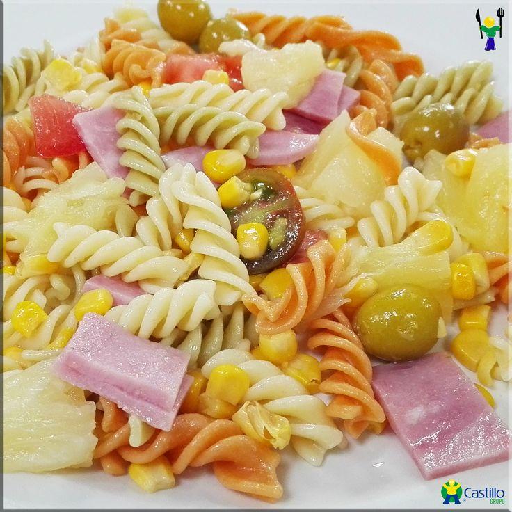 Ensalada de pasta platos castillo el burgo pinterest ensalada de pasta ensaladas y pasta - Platos de pasta sencillos ...