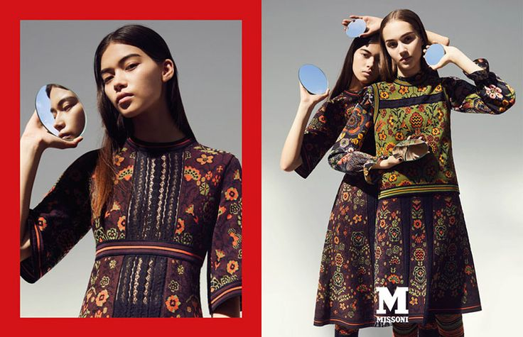 Melissa Anderson & Michelle Gutknecht by Mel Bles for M Missoni FW 17.18 Campaign