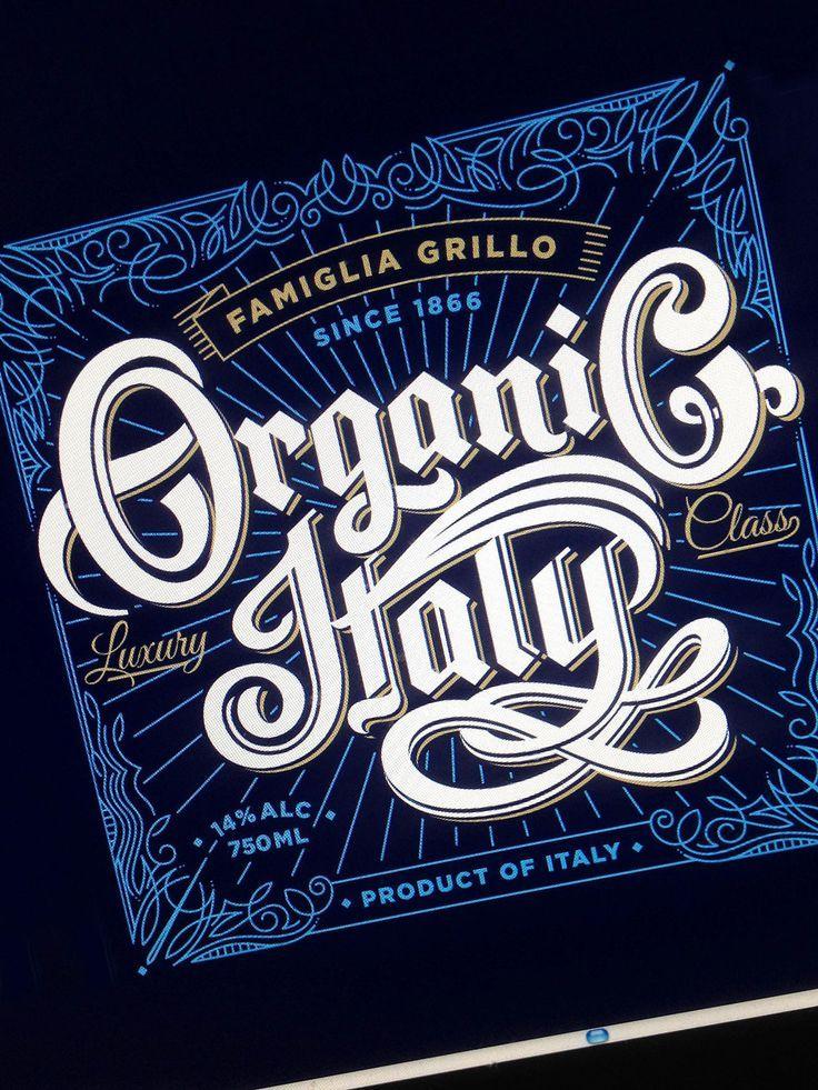 Organic Italy Wine Label by Paul Nolan
