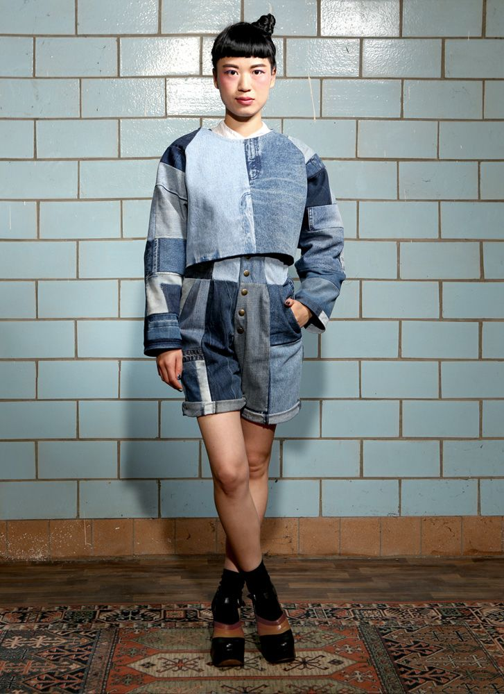 fade out label steel top blue denim