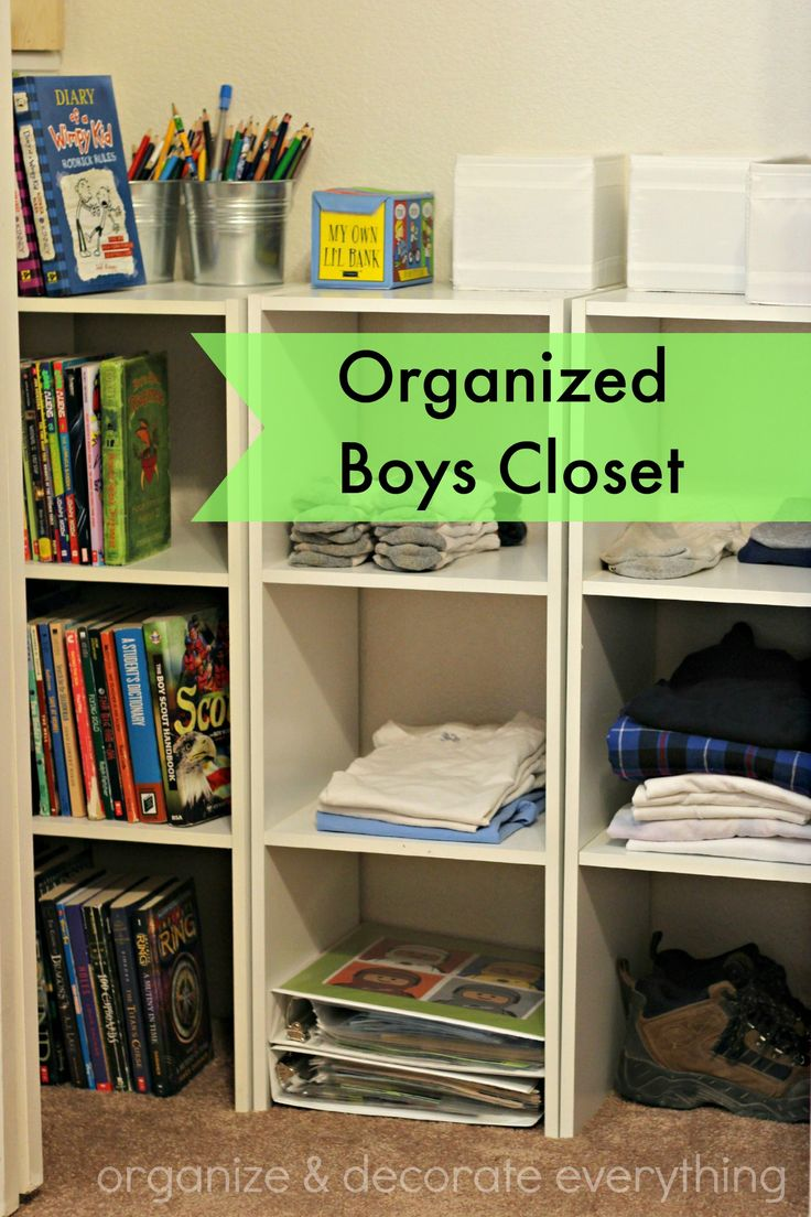 Organized Boys Closet - Organize and Decorate Everything