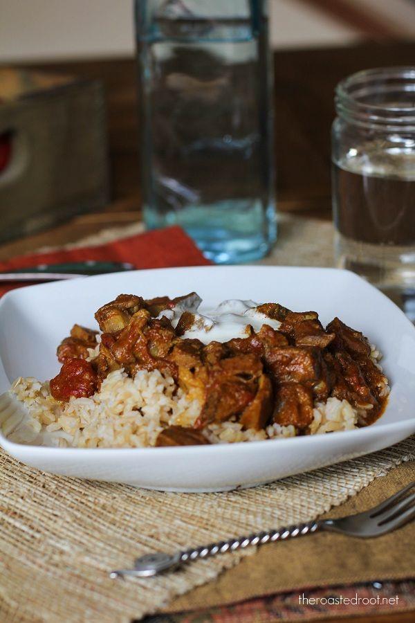 Easy Lamb Curry:4 pounds lamb stew meat* 1 can diced tomatoes (about 14 ounces) 1 can coconut milk (about 14 ounces) 1-1/2 tablespoons fresh ginger, grated 2 teaspoons coriander 2 teaspoons cumin 1/8 teaspoon saffron threads (optional) 1 teaspoon turmeric 1 tablespoon paprika 1 teaspoon salt or to taste 4 cloves garlic, minced