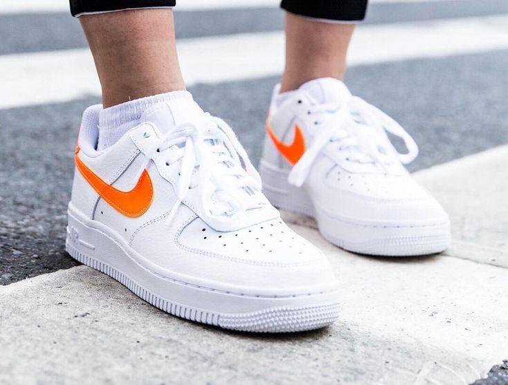 Nike Wmns Air Force 1 '07 Patent 'White Total Orange' | Nike air ...