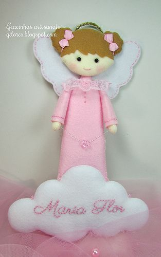 Felt Angel Crib mobile