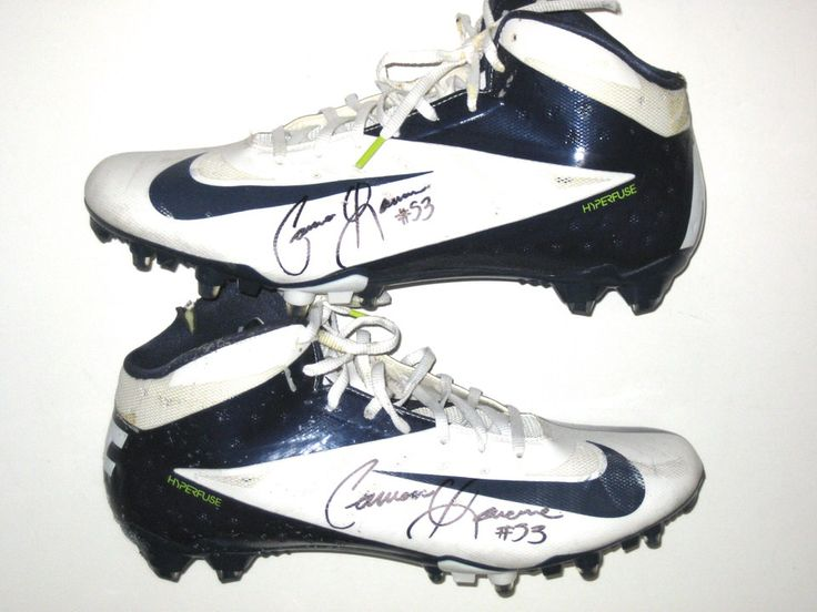 Cameron Lawrence Dallas Cowboys Game Worn & Signed White & Blue Nike Cleats