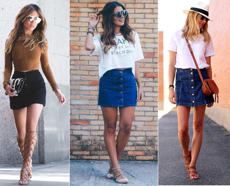 Diário da Moda: Alerta fashion: Saia com botão frontal