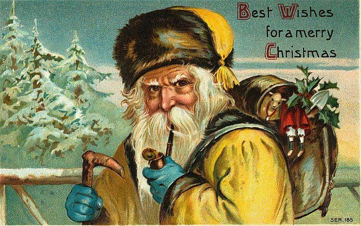 Santa Claus Vintage 383, Free Desktop Wallpapers, Cool Wallpapers