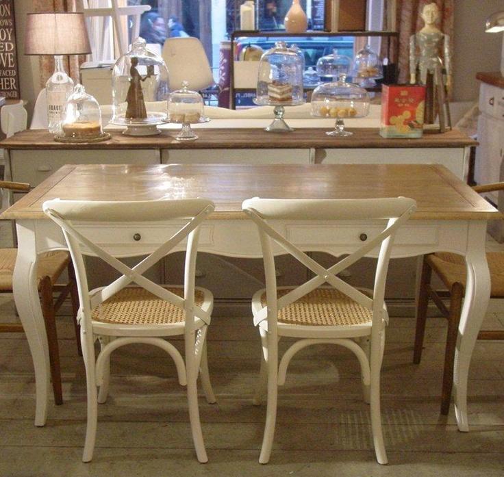 Mesas comedor mesa comedor blanca dream home pinterest - Mesa cocina vintage ...