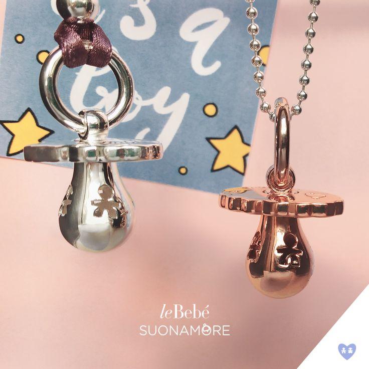 Quale ciuccio scegliere per i nove mesi di attesa più belli, in argento oppure placcato oro rosa? I Ciucci di leBebé Suonamore, il gioiello delle mamme in attesa. :)  http://www.lebebe.eu/it/collezioni/i_ciucci #fieradiesseremamma #lebebé #suonamore #gioielli #chiamaangeli