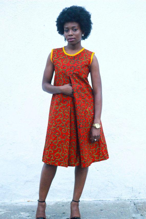 Ankara Print Dress African Print Dresscotton by JuanJayzzDesign More