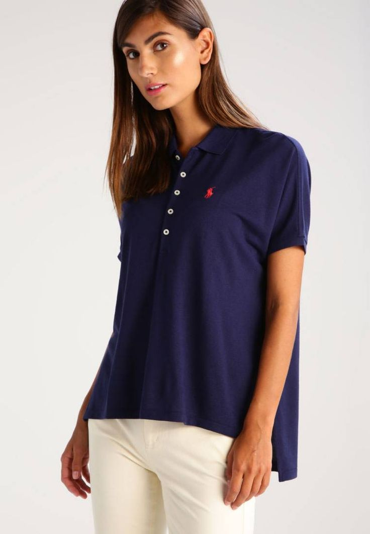 """Polo Ralph Lauren. Polo shirt - newport navy. #PoloShirt Our model's height:Our model is 70.0 """" tall and is wearing size S. Fit:large. Outer fabric material:67% Lyocell, 33% cotton. Pattern:plain. Care instructions:do not tumble dry,machine wash at 30°C,..."""