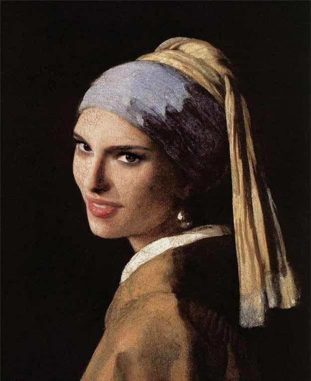 Natalie PortmanNatalie Portman, Famous Painting, Classic Painting, 35 Celebrities, Portman Style, Contest, Portrays Classic, Art Illistration, Earrings