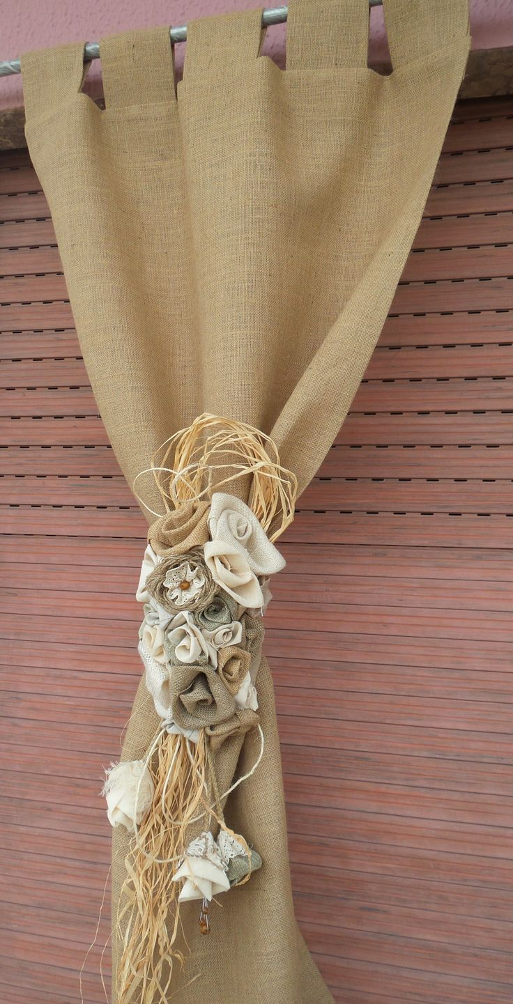 How to make tab top curtains - Rustic Burlap Curtain Tab Top Curtains Tab Top Drapes Tab Top Curtains Drapes