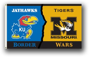 House Divided Flag Missouri vs Kansas Rivalry 3x5 Flag