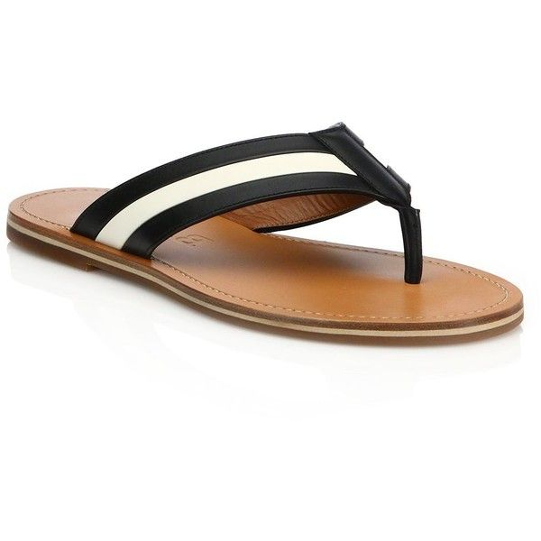 Bally Amilton Flex Leather Flip Flops : Bally Shoes ($415) ❤ liked on Polyvore featuring men's fashion, men's shoes, men's sandals, men's flip flops, apparel & accessories, black, mens black leather flip flops, mens black leather sandals, mens leather flip flops and bally mens shoes