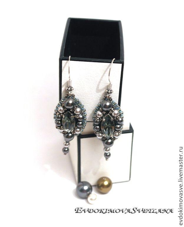 Купить Серьги Black Diamond - серьги, серьги с камнями, серьги с жемчугом, серьги с кристаллами