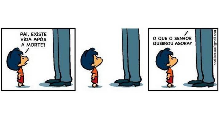 Além de crítico, Armandinho é travesso como toda criança - e lembra Calvin  http://tirasbeck.blogspot.com.br/