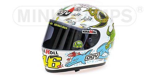 AGV HELMET - VALENTINO ROSSI - WORLD CHAMPION MOTO GP VALENCIA - 2005 - Figures - Accessories - Die-cast | Hobbyland