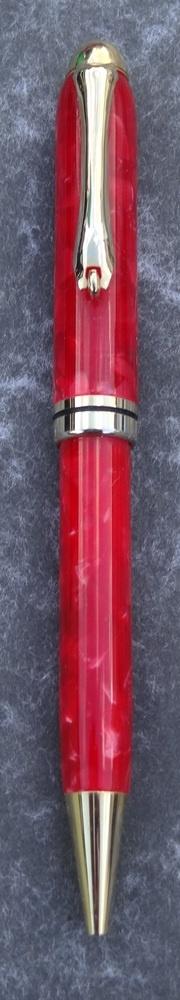 Hand made Crushed Velvet European style Pen (Red) £12.95