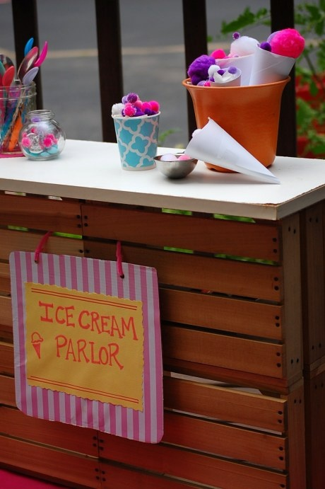 how to make an ice cream stand in minecraft
