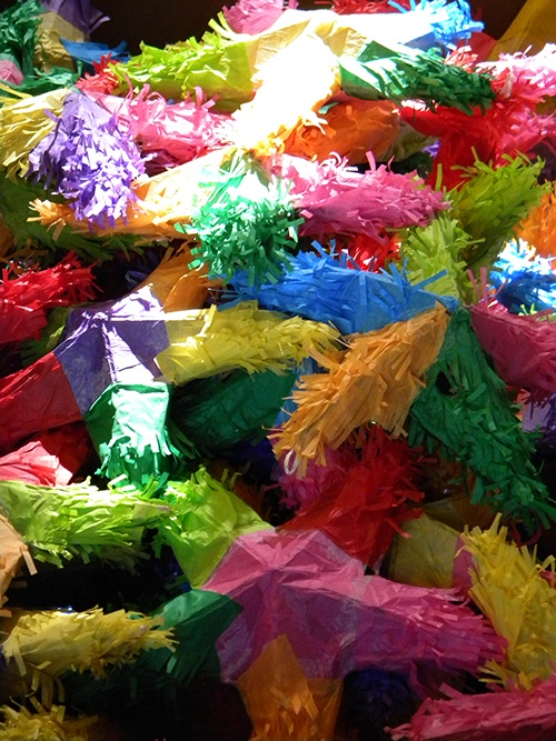 Traditional mexican pinatas 4500 of them we hand made for Viva pinata garden designs