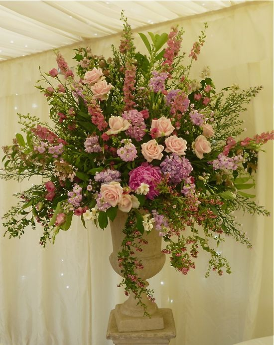 bridal bouquets with peonies and roses | Pink-hydreangea-and-peony-wedding-flowers3