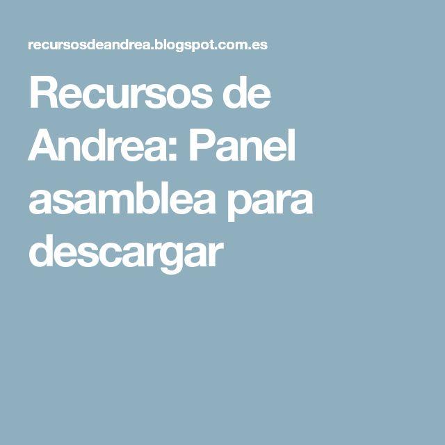 Recursos de Andrea: Panel asamblea para descargar