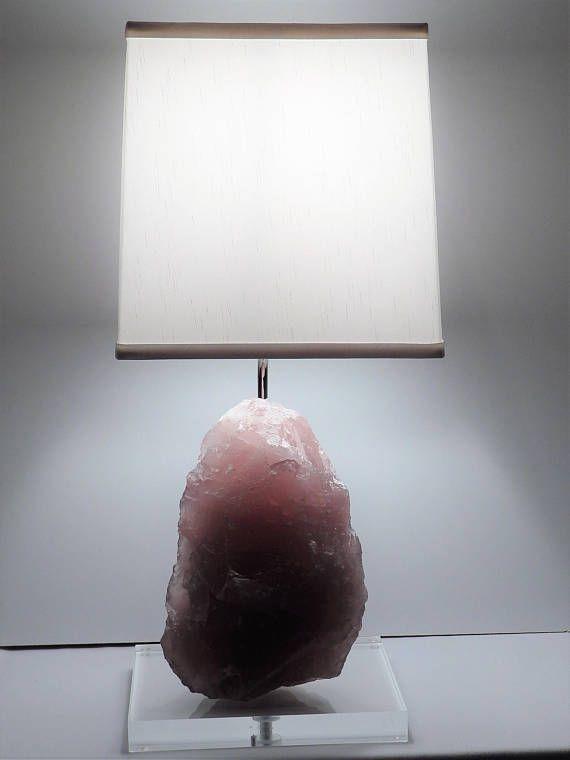 Rose Quartz Rock Crystal Table Lamp Rosetta