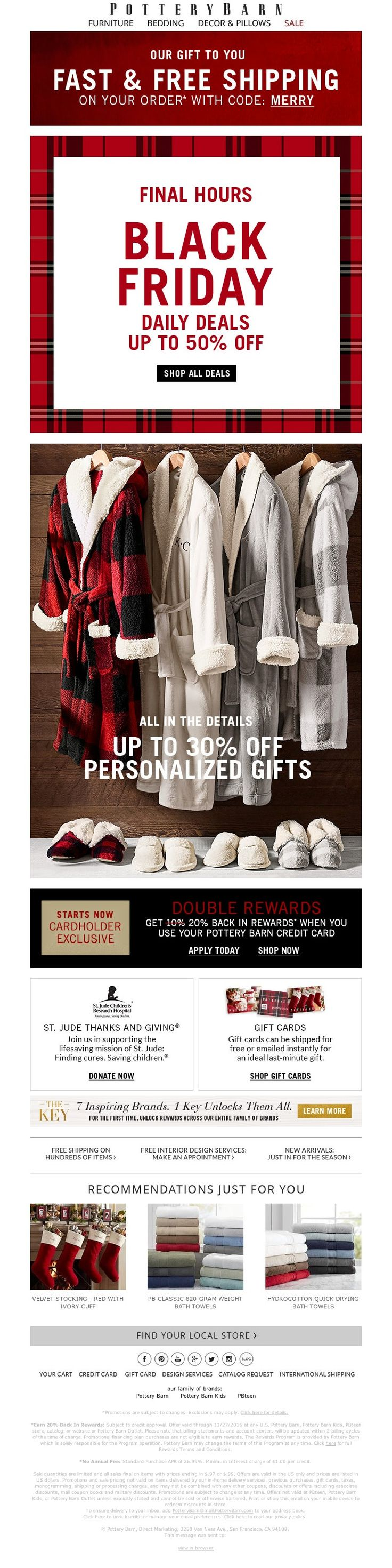 Small Of Pottery Barn Black Friday