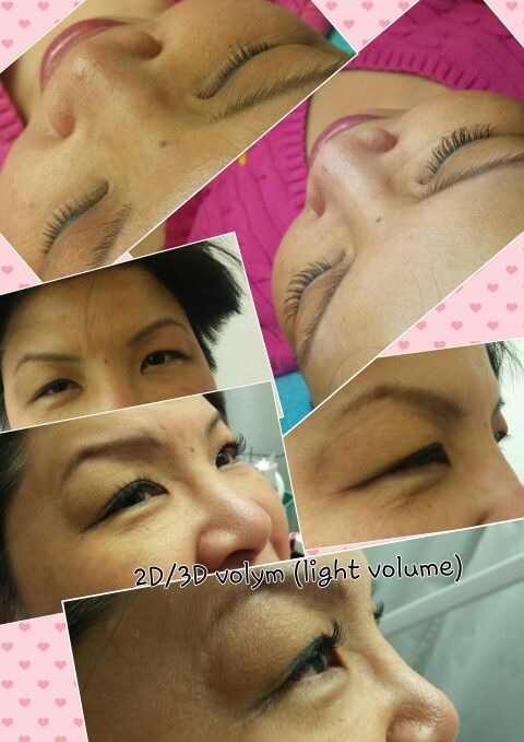My first 2D-3D lash extensions D 8,9,10,11,12,11,10,9