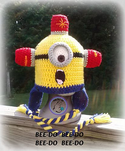 Ravelry: BEE~DO Minion Character Pieces pattern by Lisa Osterkamp