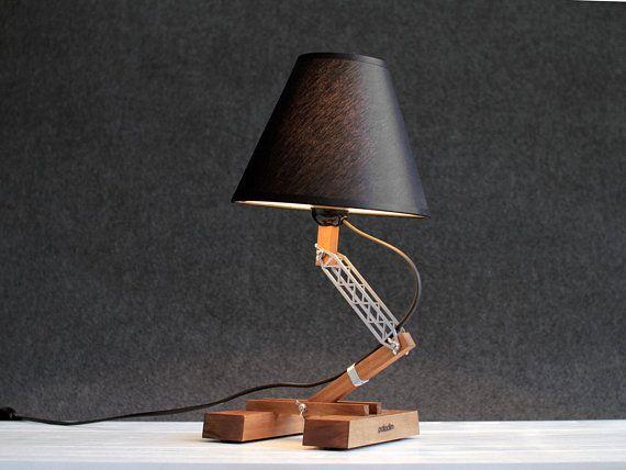 Wood Lamp Industrial Table Lamp Bedside Lamp Modern Table Lamp
