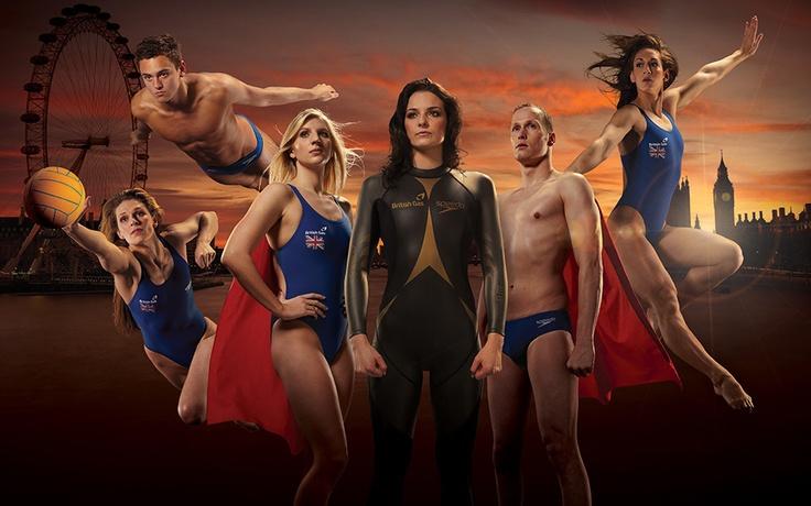 British Gas turns Team GB swimming stars into superheroes.