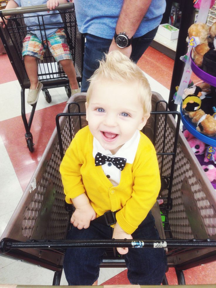 The well dressed baby boy (bow tie, cardigan, jeans)