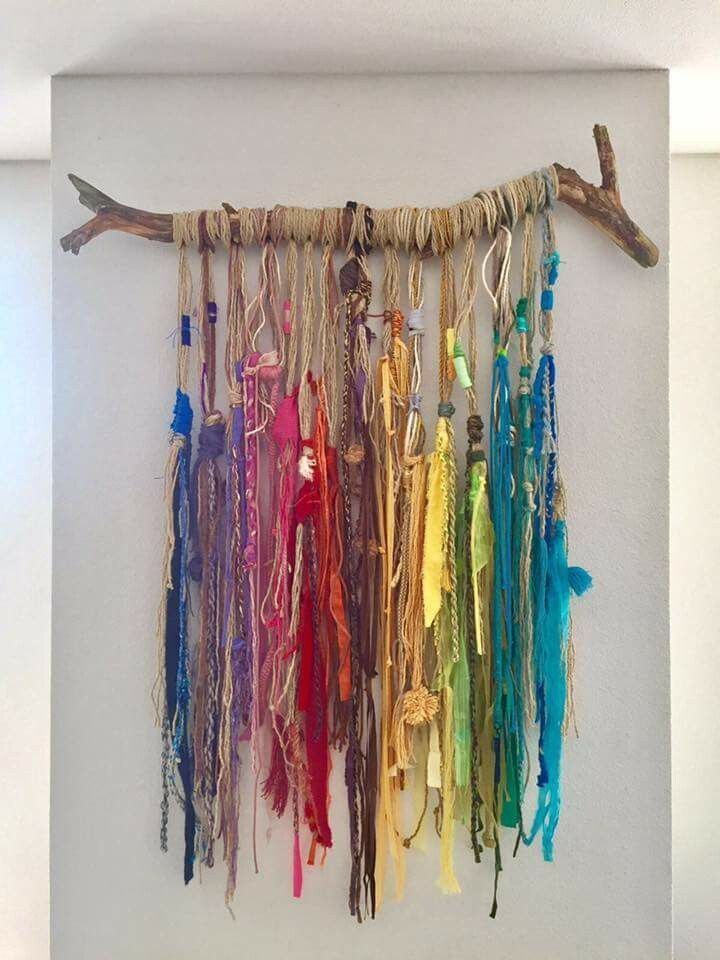 Easy #fiberwallhanging #bohowallhanging #driftwoodwallhanging #coloredfiberswall …, #bohow…
