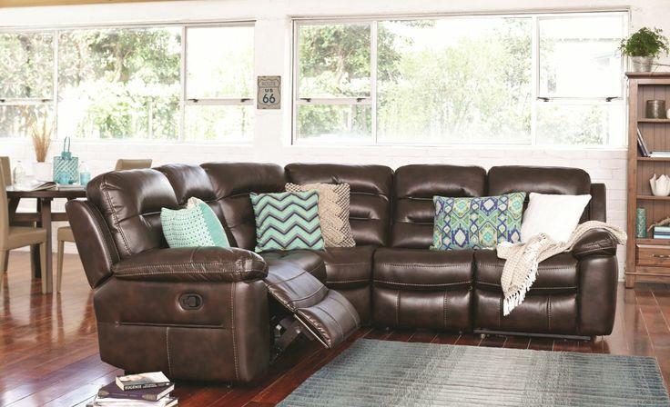 Somerset 5 Seater Corner Lounge - Fabric from Harvey Norman NewZealand