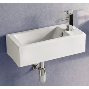 Super Narrow Rectangular Sink With Side Mounted Faucet Hawt Home Also Has Some Other Rooms
