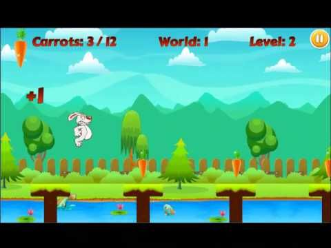 Bunny run!!! is a simple and addictive adventurous run game with simple controls. Our bunny and its small kids are starving in this Easter, help the little bunny to run and collect carrots from the farm without being caught by the cruel farmer. Just click the screen to make our bunny to jump all obstacles. This Easter bunny run is the best adventure game for this Easter. It has the best fun run game with good graphics and music.