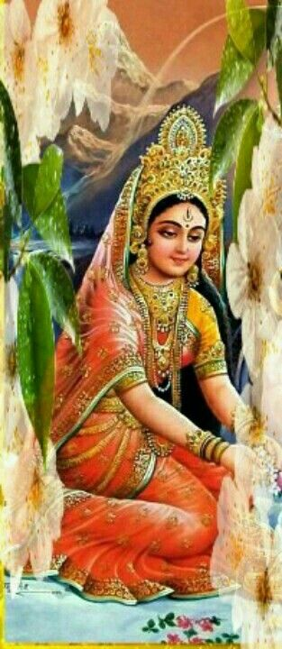 Durga Maa in the form of Maa Parvati...