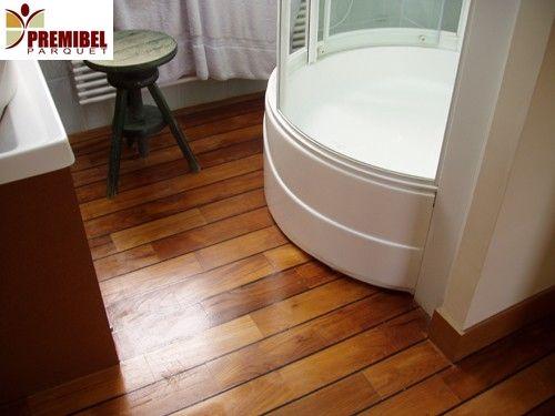 17 meilleures images propos de plancher sur pinterest for Pose parquet flottant salle de bain