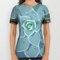 Dainty Little Succulent All Over Print Shirt by I Love the Quirky
