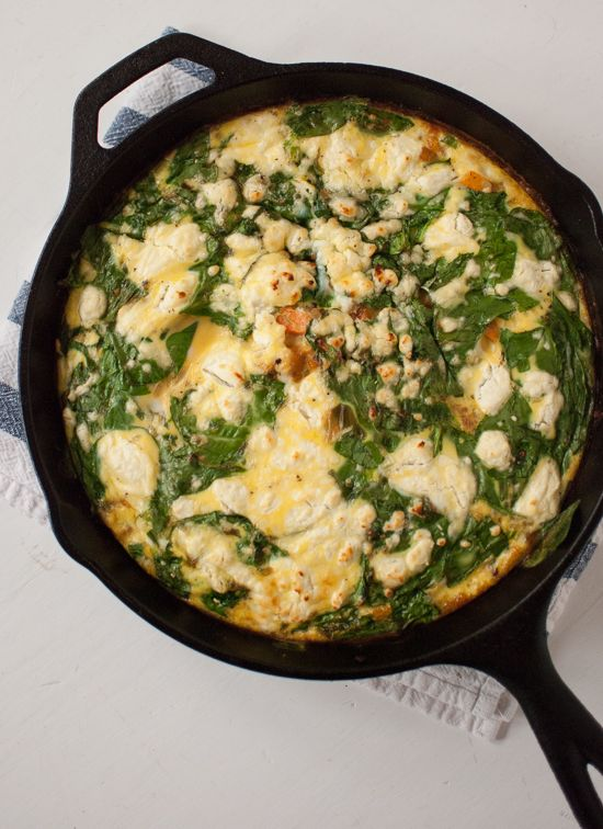 Baby Spinach Frittata with Sweet Potato Hash Crust - Cookie and Kate