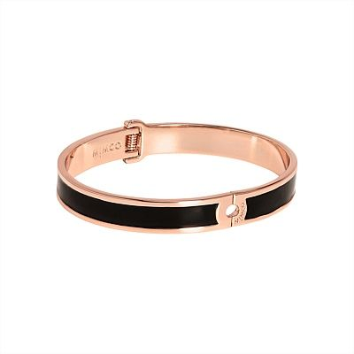 #mimco Tempo Hinged Bangle in Black Rose Gold